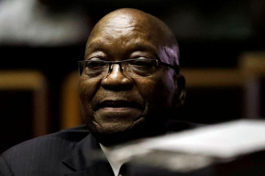 South African former president Jacob Zuma is accused of overseeing mass looting of state funds during his nine-year reign.