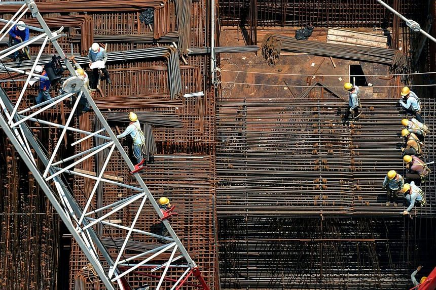 The construction sector shrank 7.6 per cent from the last quarter.