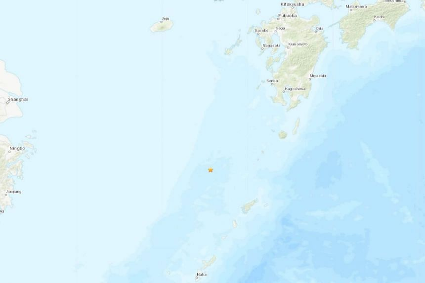 The earthquake hit at a depth of 257km, about 346km north of Naha, Japan.