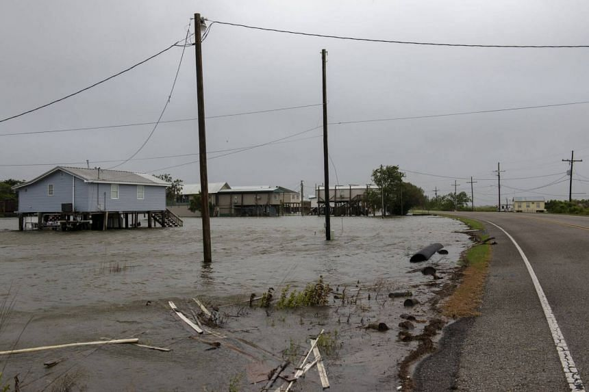 Flooding in Cocodrie, Louisiana, caused by Tropical Storm Barry.