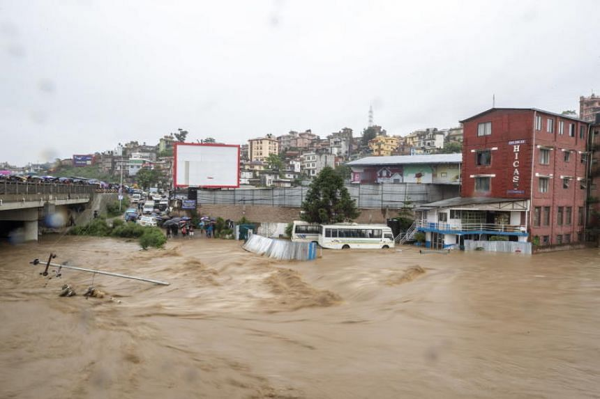 In Nepal, 27 people have died in floods and landslides after heavy rains hit the country's eastern region and the southern plains.