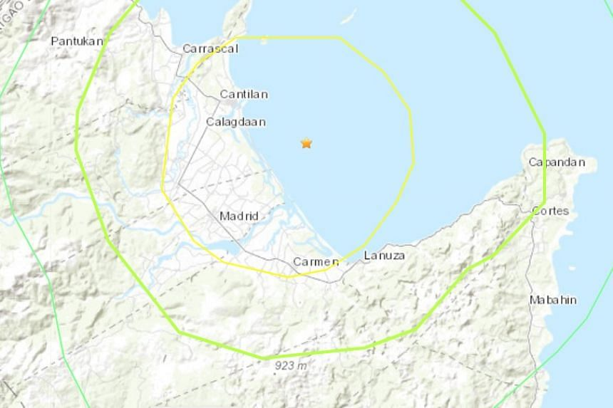 A map of the area affected by the quake.