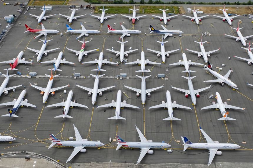 B-737 Max airplanes stored in an area adjacent to Boeing Field in Seattle, Washington. The management shake-up marks a shift in the US planemaker's focus towards getting its best-selling jet back in the air.