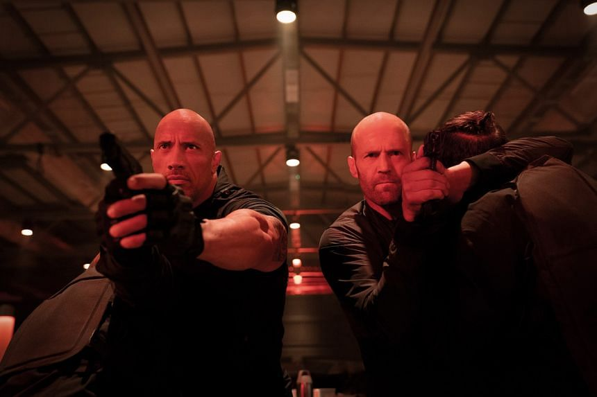 Fast & Furious Presents: Hobbs & Shaw stars Dwayne Johnson (at left) and Jason Statham as two foes who join forces to complete a mission.