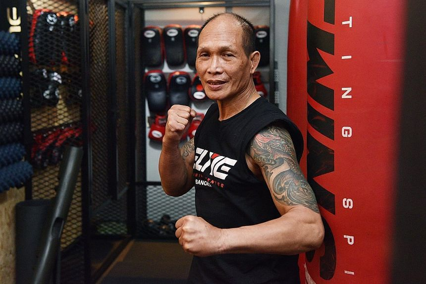 Muay thai trainer Spencer Soh, 63, is fitter now than when he started exercising in his 40s.