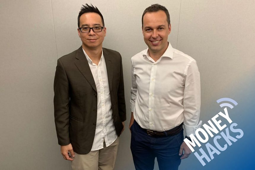Money Hacks' Chris Lim hosts the chief executive of StashAway - Michele Ferrario (right) - as they discuss robot-enabled, technology-assisted investment for listeners.