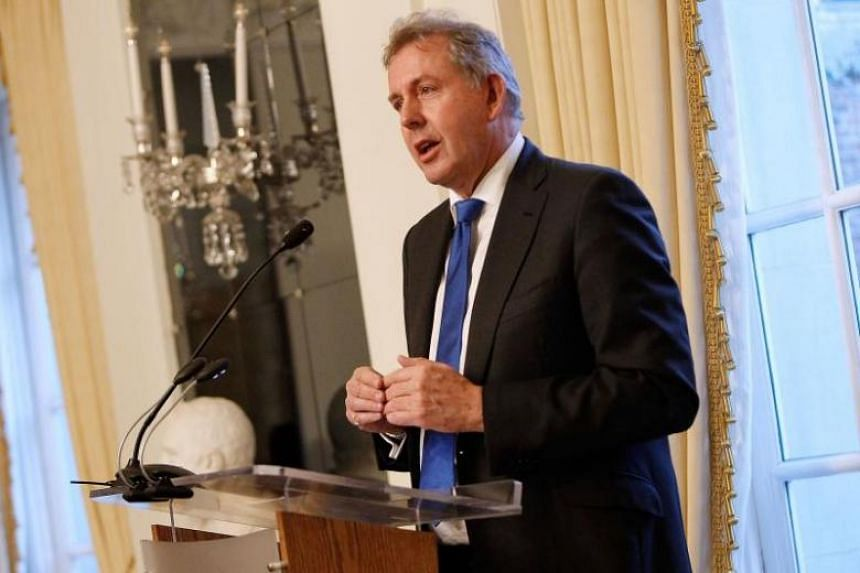 British Ambassador Kim Darroch speaks at an Afternoon Tea hosted by the British Embassy in 2017 to mark the U.S. Presidential Inauguration at The British Embassy in Washington, DC. The ambassador resigned on Wednesday (July 10), after leaked reports