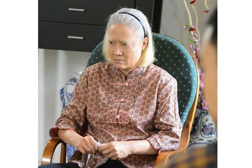 Channel 8 drama Good Luck (2015) centres on a centenarian played by Hong Huifang, 59, who is the matriarch of a four-generation family.