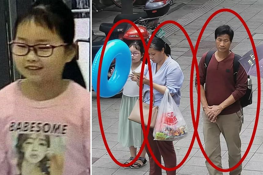 (Left) Zhang Zixin, nine, was last seen with Liang (right) and Xie in surveillance camera footage on July 7. The couple's bodies were found a day later. Local police said they had likely committed suicide.