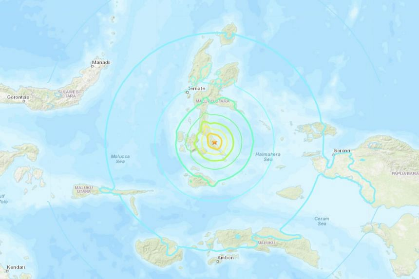 The earthquake occurred at a depth of 10km at an area 168km from the city of Ternate, in the Moluccas, on July 14, 2019.