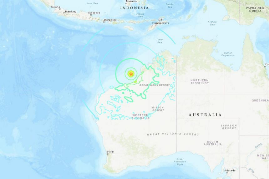 The earthquake struck at a depth of 33km, about 203km offshore from the town of Broome in Western Australia, on July 14, 2019.