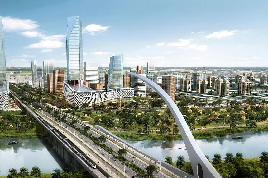 Andhra Pradesh's new Chief Minister Jagan Mohan Reddy (top), leader of the YSR Congress party, came to power in May after defeating incumbent Chandrababu Naidu of the Telugu Desam Party. An artist's impression of Amaravati, the new capital city of th