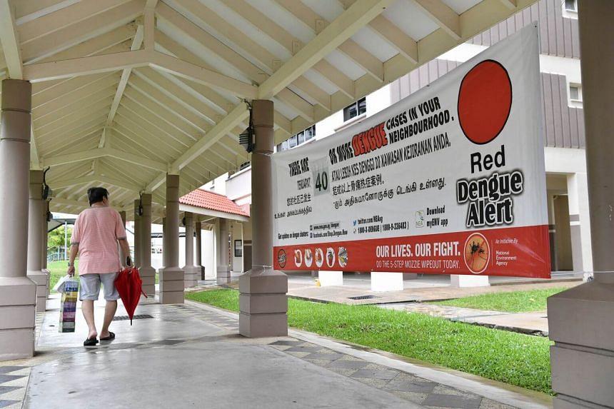 An alert banner near Blk 646 Jalan Tenaga.