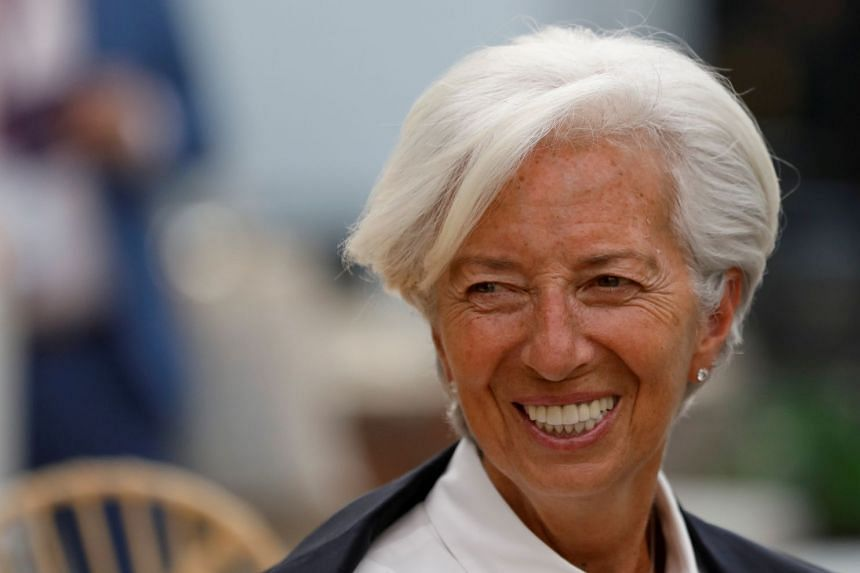 Lagarde (above) said in a statement her resignation was effective Sept 12, 2019.