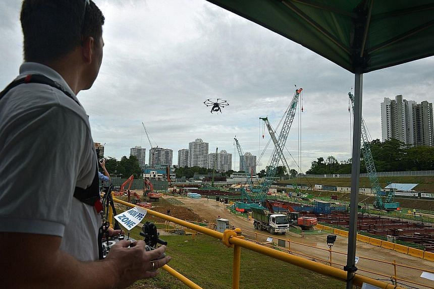 Standards under development include how drones can be used to inspect buildings as the use of drones is safer and more efficient than human inspections.