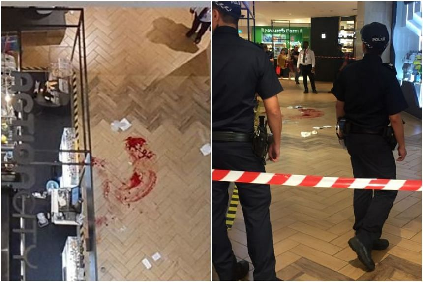 The man died after falling several storeys and landing in front of a store on the basement 2 level of Ngee Ann City shopping mall