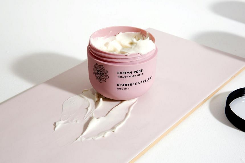 The Evelyn Rose Velvet Body Melt. All 12 Crabtree and Evelyn stores in Singapore were closed earlier this year, as part of the retailer's switch to online-only operations worldwide.