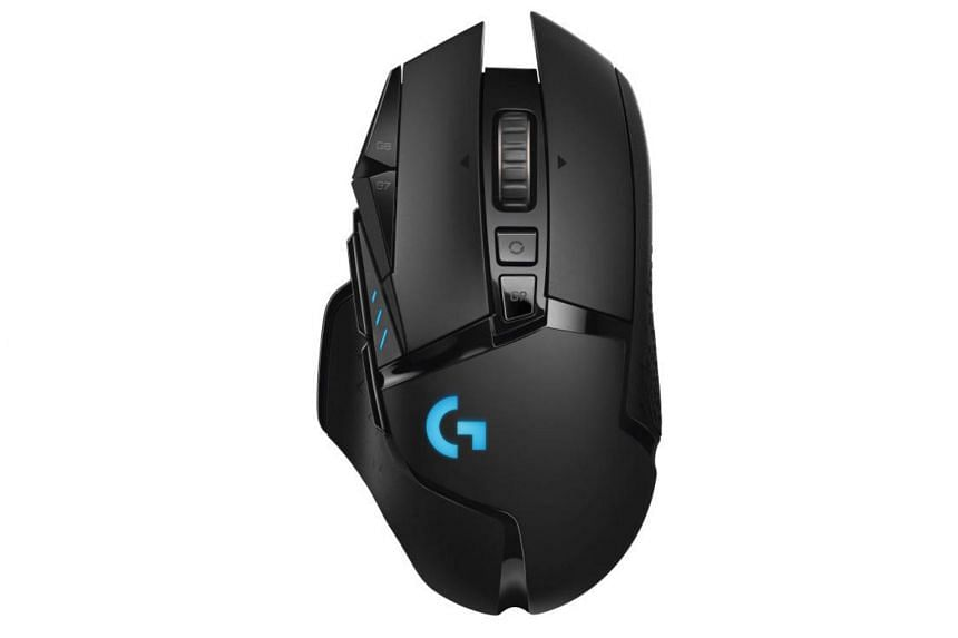 The G502 Lightspeed features the Logitech's latest Hero 16K optical sensor for sensitivity up to 16,000 dots per inch and a maximum speed of 400 inches per second.