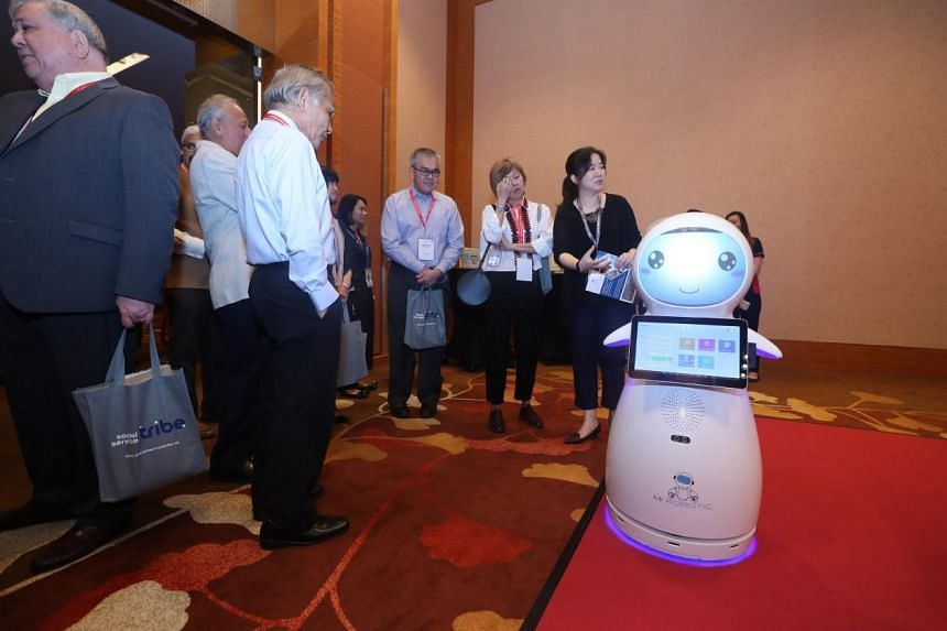 One of the featured technologies is Snow, a personal robot assistant that comes equipped with face and voice recognition capabilities as well as an built-in infrared thermometer, making attendance and temperature taking simple and efficient.