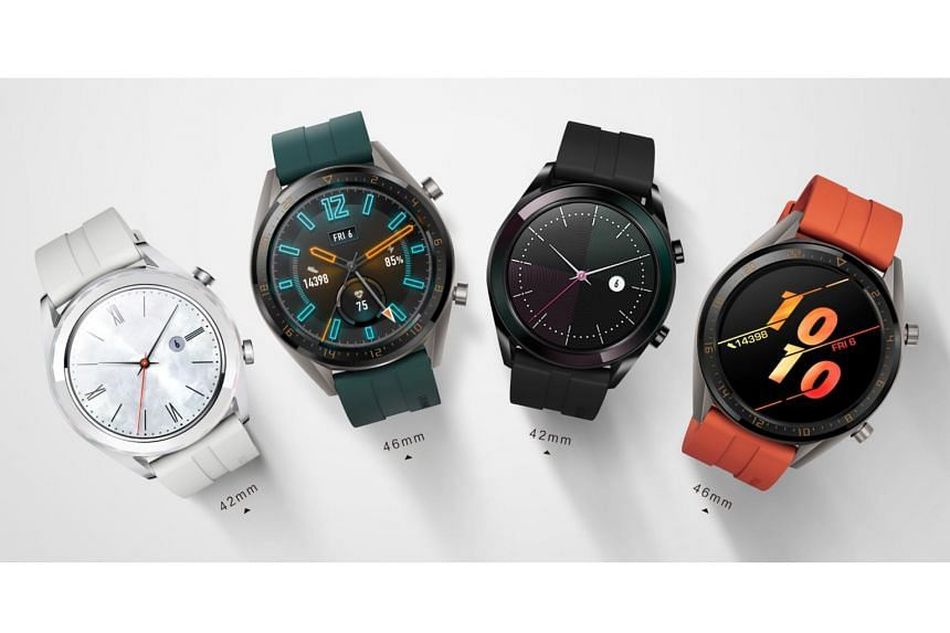 In April, Huawei added two new models - the Active and Elegant editions - to its Watch GT smartwatch line, which was launched late 2018. The Active has a 46mm face while the Elegant has a smaller 42mm face.