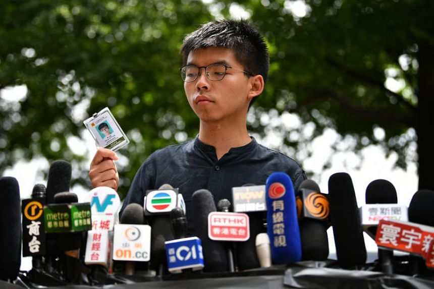 Hong Kong activist Joshua Wong co-founded the small pro-democracy Demosisto party and rose to prominence as the face of the 2014 Occupy movement that brought parts of Hong Kong to a standstill.
