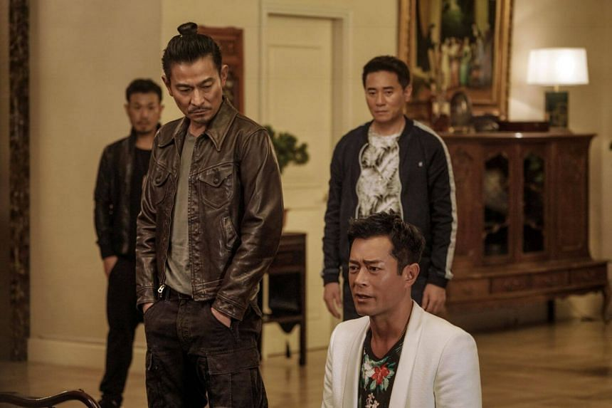 A movie still from The White Storm 2: Drug Lords starring Andy Lau (left) and Louis Koo.