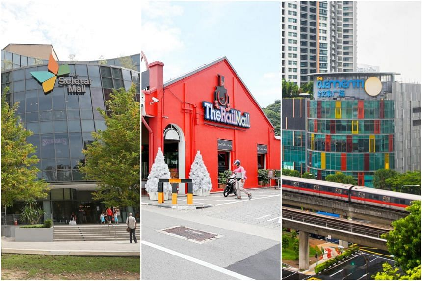 The Seletar Mall, The Rail Mall and The Clementi Mall, which are involved in a six-month long campaign to reduce waste.
