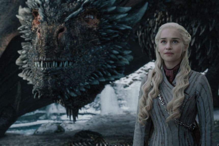 Actress Emilia Clarke in a scene from Game Of Thrones.