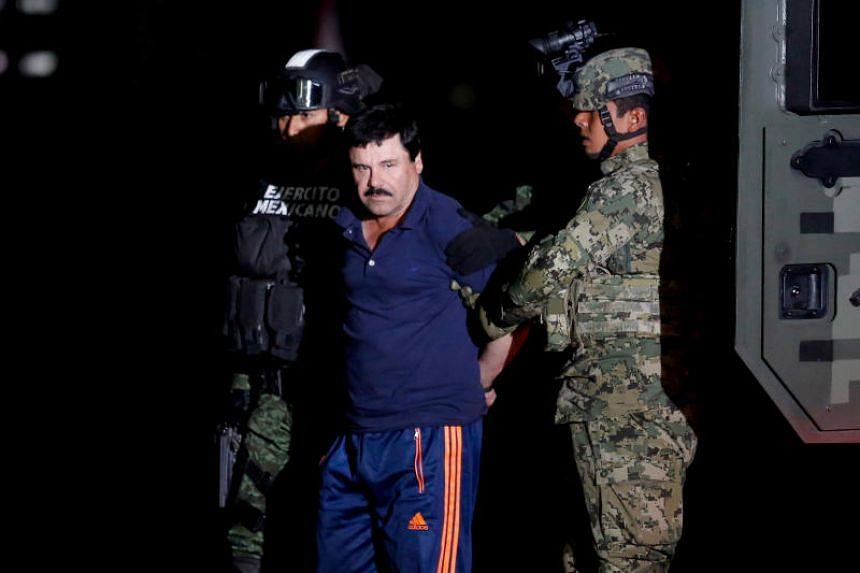 """Joaquin """"El Chapo"""" Guzman was found guilty by a jury in February of trafficking tonnes of cocaine, heroin and marijuana and engaging in multiple murder conspiracies as a top leader of the Sinaloa Cartel."""