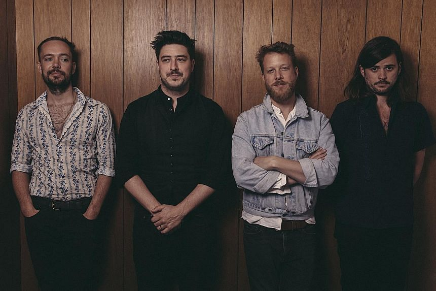 Mumford & Sons, made up of (from far left) Ben Lovett, Marcus Mumford, Ted Dwane and Winston Marshall, will perform in Singapore for the first time on Nov 23, the first day of music and arts festival Neon Lights.
