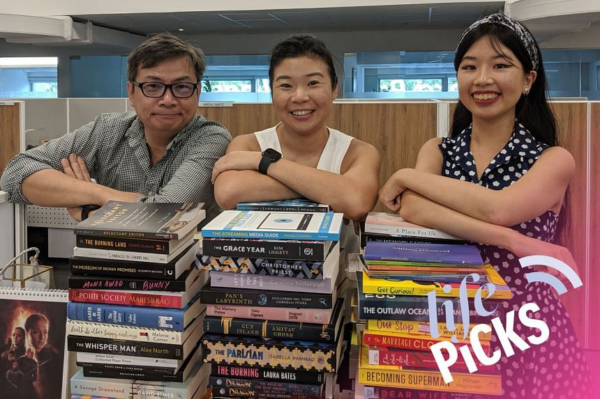 Life Picks host Melissa Sim (centre) chats with colleagues John Lui (left) and Olivia Ho about the best things to do in Singapore from July 18-Aug 1.
