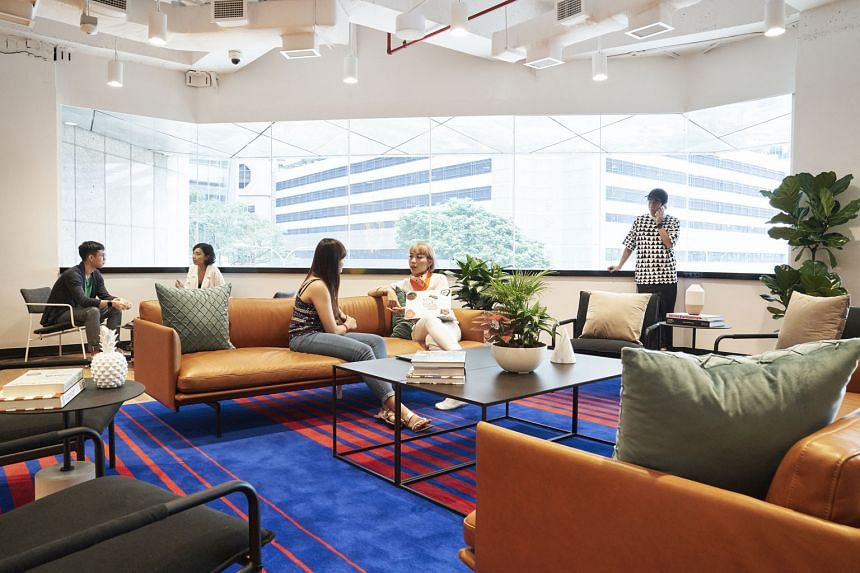 The WeWork City House in Robinson Road. WeWork, the US co-working giant, has locations in over 28 countries, including Singapore, China and India. The 21-storey tower in Collyer Quay will be its biggest property in Singapore and has a net lettable ar