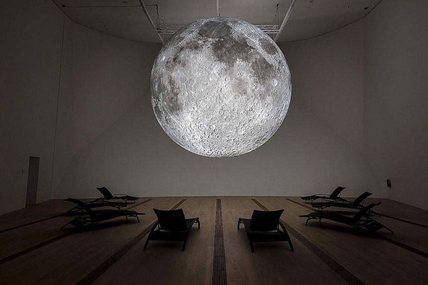 British artist Luke Jerram's sculpture Museum Of The Moon.