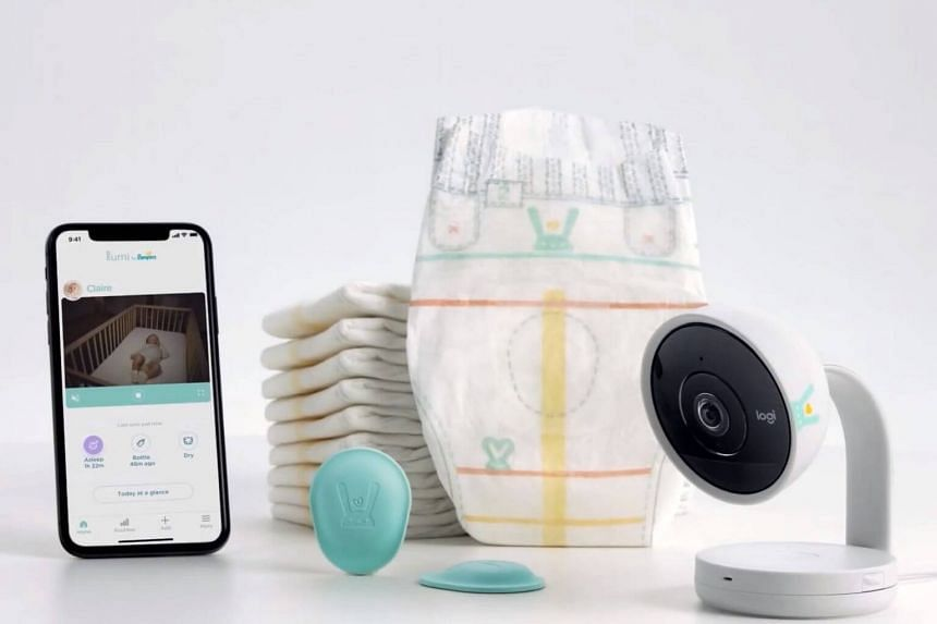 Sensors on the diapers send information on a baby's sleep and wake times and allows the parents to manually track additional information.