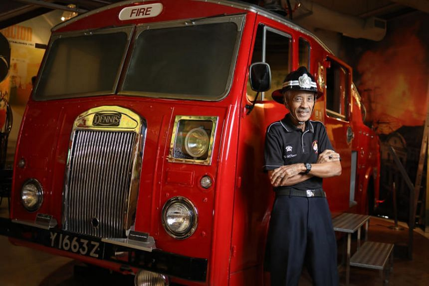 Mr Yunnos Shariff was born in Geylang Fire Station in 1943, and then went on to be a firefighter for 41 years.
