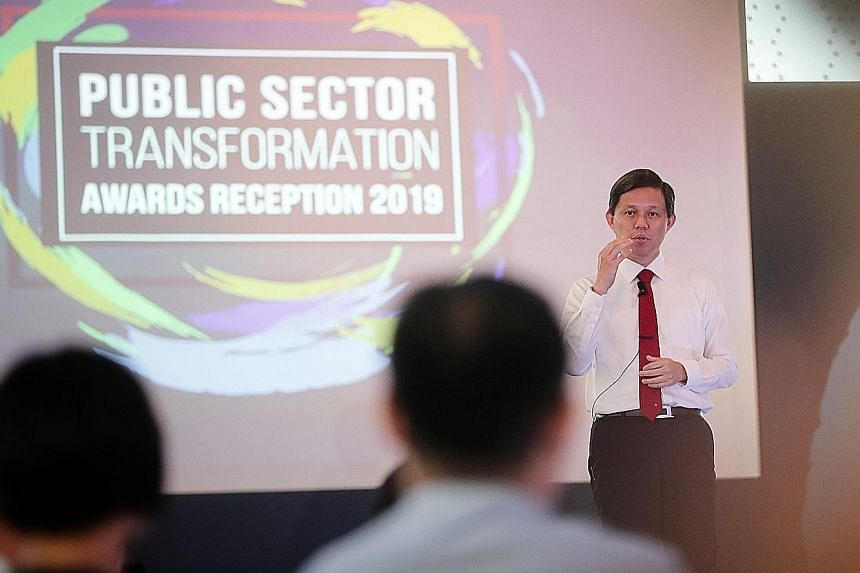 Minister-in-charge of the Public Service Chan Chun Sing, who is also Trade and Industry Minister, said that the biggest challenge for Singapore in the next 10 years will be leadership and relevance. ST PHOTO: KELVIN CHNG