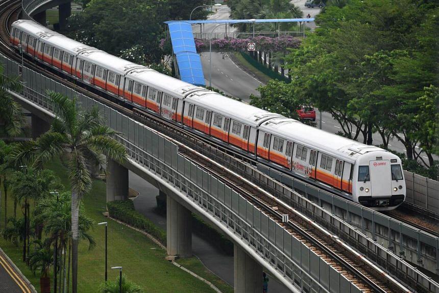 A train near Admiralty MRT station.