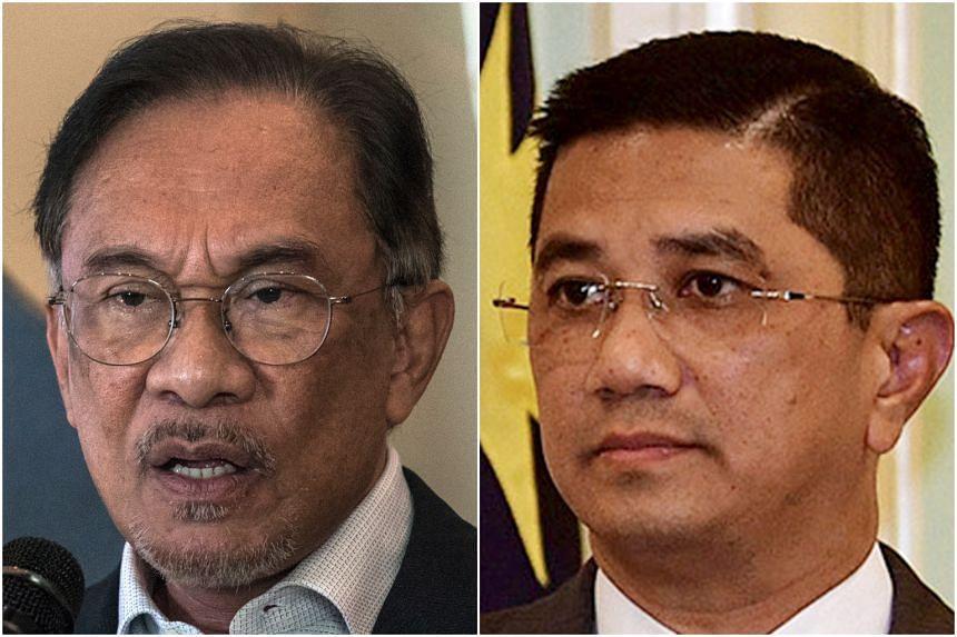The apparent rift between Parti Keadilan Rakyat leaders Anwar Ibrahim (left) and Azmin Ali continues to dominate headlines.