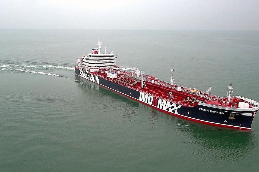 The Stena Impero has been taken by Iran's elite Revolutionary Guards to Bandar Abbas port. The tanker's operator Stena Bulk says the vessel had been in full compliance with all navigation and international regulations. PHOTO: STENA BULK