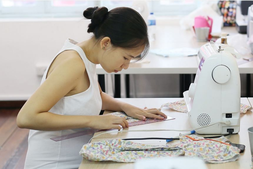 Fashion Makerspace hosts regular workshops to help participants learn to sew.