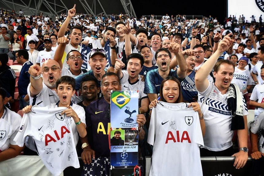 Tottenham Hotspur fans celebrating after their team defeated Juventus in the International Champions Cup, on July 21, 2019.