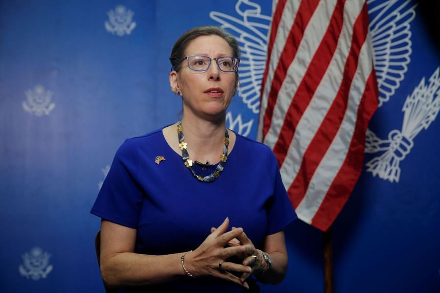 US Ambassador to Sri Lanka Alaina Teplitz said Washington has no intention of setting up a military base in the country.