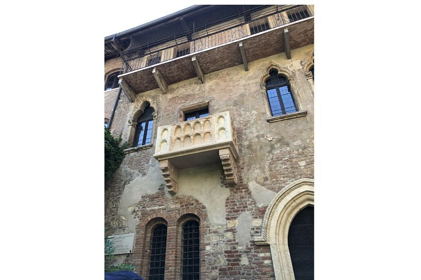 The balcony in Verona made famous by William Shakespeare's Romeo And Juliet.