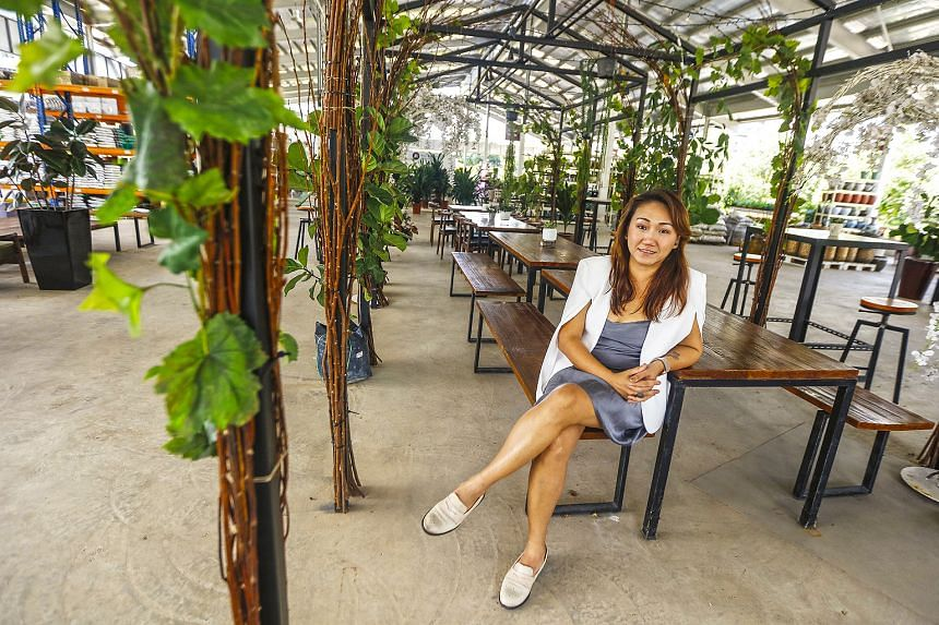 Ms Gracelyn Lin, CEO of Sing See Soon Floral and Landscaping, opened a second branch of the family business in May and says sales at the garden centre in Simei have been growing steadily.