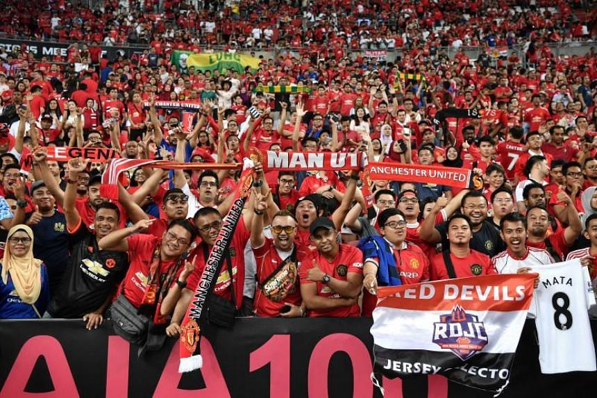 Fans at the Manchester United versus Inter Milan match played at the National Stadium on July 20, 2019.