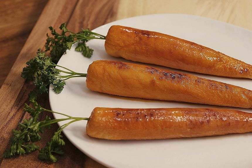 """Arby's """"marrot"""" - a carrot made from turkey - is designed to poke fun at fans of meatless meat."""