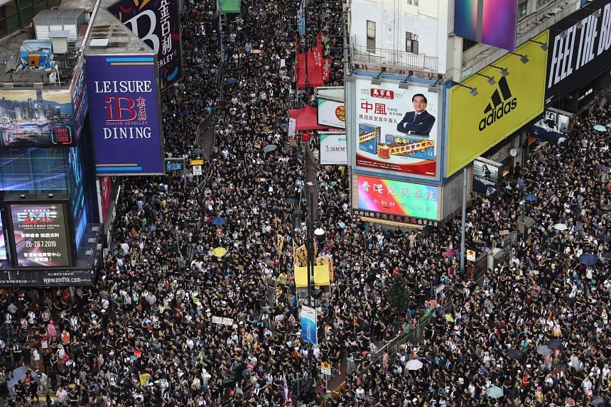 The Civil Human Rights Front, which organised yesterday's march, said 430,000 people took part, while police put the turnout at 138,000. Protesters, who are angry at what they say is China's erosion of Hong Kong's cherished freedoms, later took out t