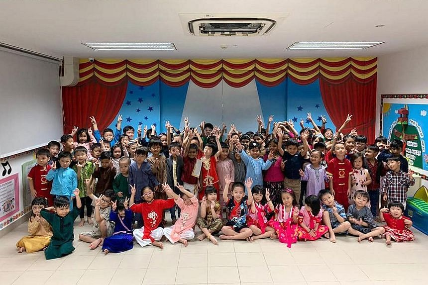 Deputy Prime Minister Heng Swee Keat posted this photo of celebrations on Friday at PCF Sparkletots at Tampines Central, noting that while such scenes are delightful, harmony is about much more than what is worn on the surface.