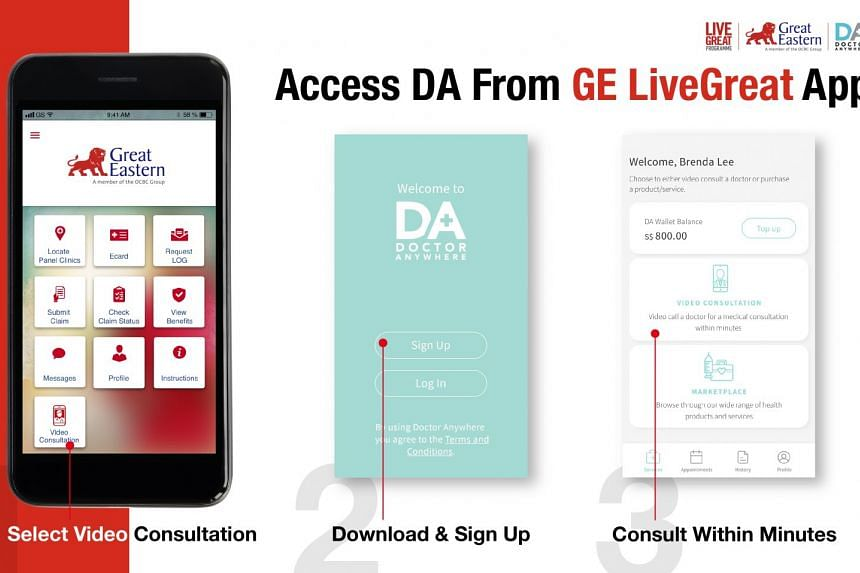 How to access Doctor Anywhere from the Great Eastern Live Great app.