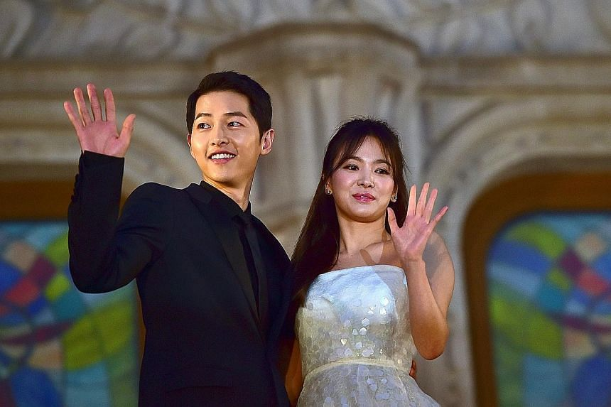 Actors Song Joong-ki and Song Hye-kyo got married in October 2017 after playing lovers in the hit military romance, Descendants Of The Sun (2016).